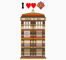 I Heart Doctor Who (4th Doctor Scarf TARDIS) Unisex T-Shirt