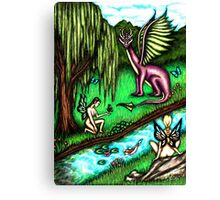 Faerie Realm of the Dragon King Canvas Print