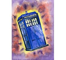 Tardis in flight inspired by Who? Photographic Print