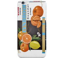 Waxed Choice Fruit Label iPhone Case/Skin