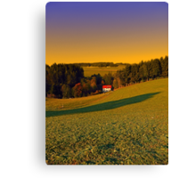 Beautiful sundown in the countryside | landscape photography Canvas Print