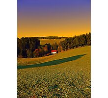 Beautiful sundown in the countryside | landscape photography Photographic Print