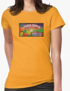 Golden Sunrise Fruit Label Womens T-Shirt