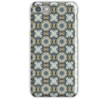 blue yellow floral pattern iPhone Case/Skin