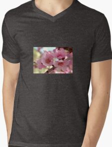 Peach Blossoms Mens V-Neck T-Shirt