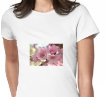 Peach Blossoms Womens Fitted T-Shirt