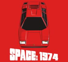 Lamborghini Countach Space 1999 Kids Tee