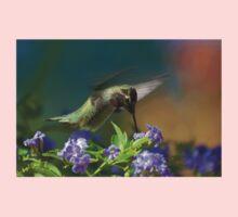 Male Anna's Hummingbird In Flight Kids Tee