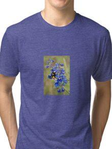 Bumble Bee On Larkspur Tri-blend T-Shirt