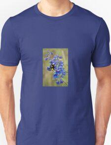 Bumble Bee On Larkspur Unisex T-Shirt