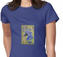 Bumble Bee On Larkspur Womens Fitted T-Shirt
