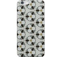 black yellow floral pattern iPhone Case/Skin