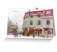 Tremblant Resort in Winter Greeting Card