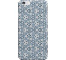 blue floral pattern iPhone Case/Skin