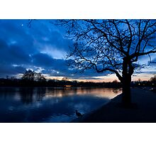 London Hyde Park sunset Photographic Print
