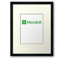Micro$oft (parody) Framed Print