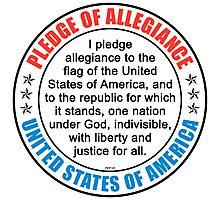 Pledge of Allegiance Photographic Print