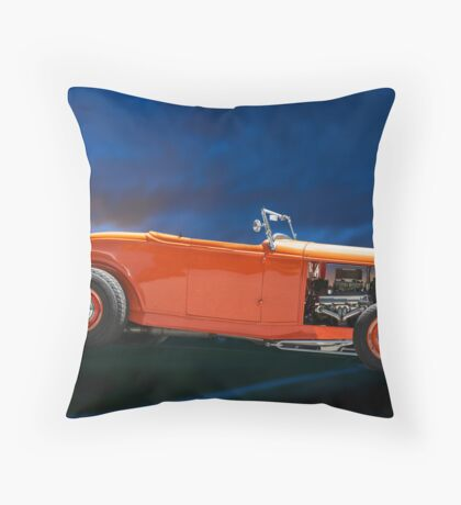 Orange Roadster Throw Pillow