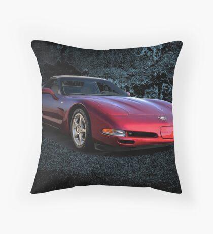 2002 Corvette Convertible Throw Pillow