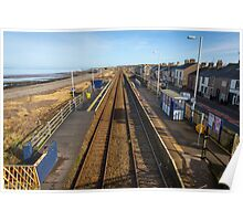 Maryport from Flimby Railway Station Bridge Poster