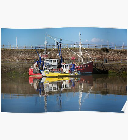 Fishing Boats in Maryport Harbour Poster