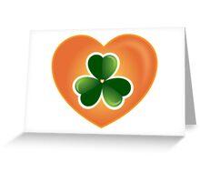 Lucky Heart Clover Nr. 06 Greeting Card
