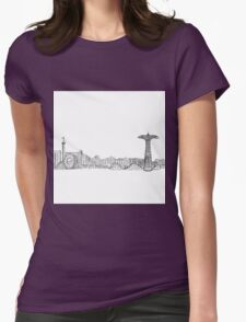 Coney Island Boardwalk Womens Fitted T-Shirt