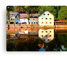 River reflections at the mill | waterscape photography Canvas Print