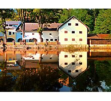 River reflections at the mill | waterscape photography Photographic Print