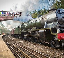 The Scots Guardsman Thunders Through Wetheral Railway Station by Jan Fialkowski