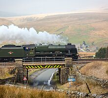 Scots Guardsman Thunders Towards Garsdale Railway Station by Jan Fialkowski