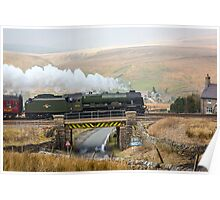 Scots Guardsman Thunders Towards Garsdale Railway Station Poster