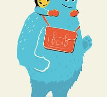 Blue-Monster Piggy-Back Ride by andyfielding
