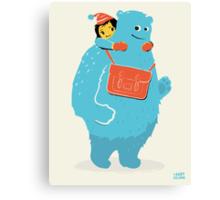 Blue-Monster Piggy-Back Ride Canvas Print