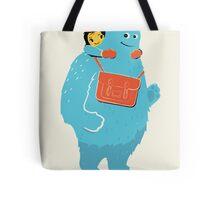 Blue-Monster Piggy-Back Ride Tote Bag