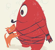 Cyclopes Monster Blob & Orange Dog by andyfielding