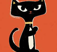 Suspiciously Cute Black Cat by andyfielding