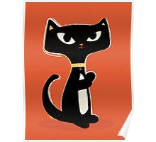 Suspiciously Cute Black Cat Poster