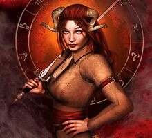 Aries from my Fantasy Zodiac Circle by Britta Glodde