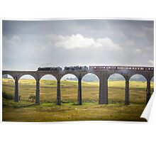 The Fellsman Black Fives Thunder over Riblehead Viaduct Poster
