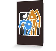 Portal Hug Greeting Card