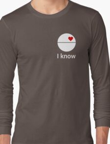 I know (death star) white Long Sleeve T-Shirt