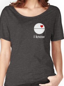 I know (death star) white Women's Relaxed Fit T-Shirt