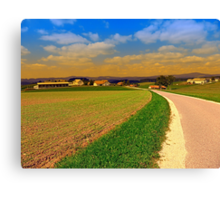 A road, a village and summer season II | landscape photography Canvas Print