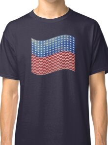 American Flag Red White Blue Classic T-Shirt
