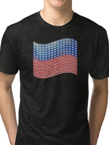American Flag Red White Blue Tri-blend T-Shirt