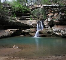Old Mans Cave waterfall by Susan Kaufman
