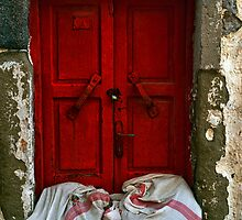 closed red door by gzmguvenc89