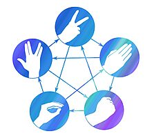 The Big Bang Theory rock-paper-scissors-lizard-Spock Photographic Print