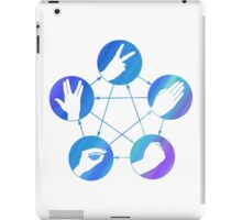 The Big Bang Theory rock-paper-scissors-lizard-Spock iPad Case/Skin